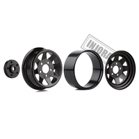 "INJORA Metal 1.9"" Beadlock Wheel Rims 3 Style for 1:10 RC Crawler Car Axial SCX10 90046 Traxxas TRX4 Redcat GEN8 3"