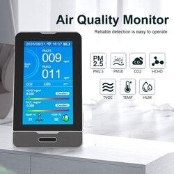 Dm73b tuya wifi 4.3 Polegada display led pm2.5 pm1.0 pm10 temperatura umidade co2 hcho tovc detector inteligente detectar ferramenta