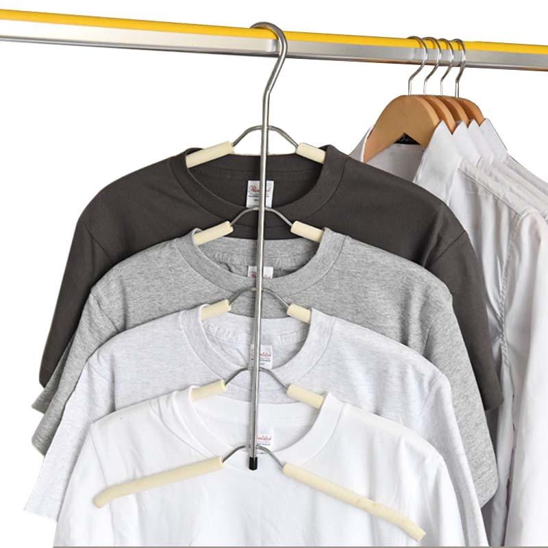 Multilayer Fish Bone Shape Stainless Steel Clothing Storage Wardrobe Laundry Drying Rack Racks Clothes Hanger Storage Holder