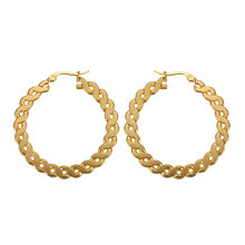 Silver/Gold Color Stainless Steel Hoop Earrings For Women Classic Luxury Ladies Earrings Wedding Jewelry 2019 (A1556)(China)