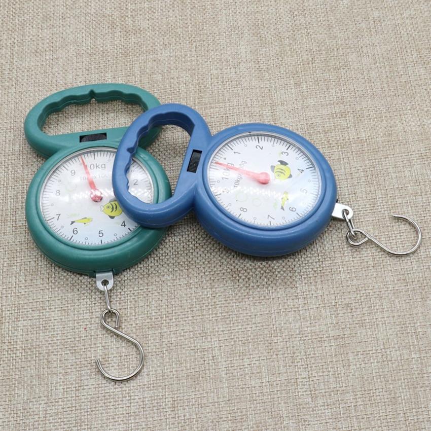 Портативные весы с крючком для рыбалки, максимальный вес 10 кг-3