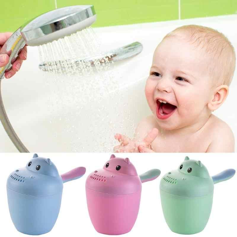 ベビー漫画の洗浄猫形状新生児シャンプーベイラーシャワースプーンバス洗浄スプリンクラー水泳水浴のおもちゃ 3 色