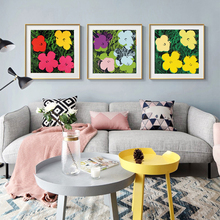 Andy Warhol Colorful Watercolor Flowers Wall Art Oil Painting Canvas Pictures For Living Room Cuadros Home Decor