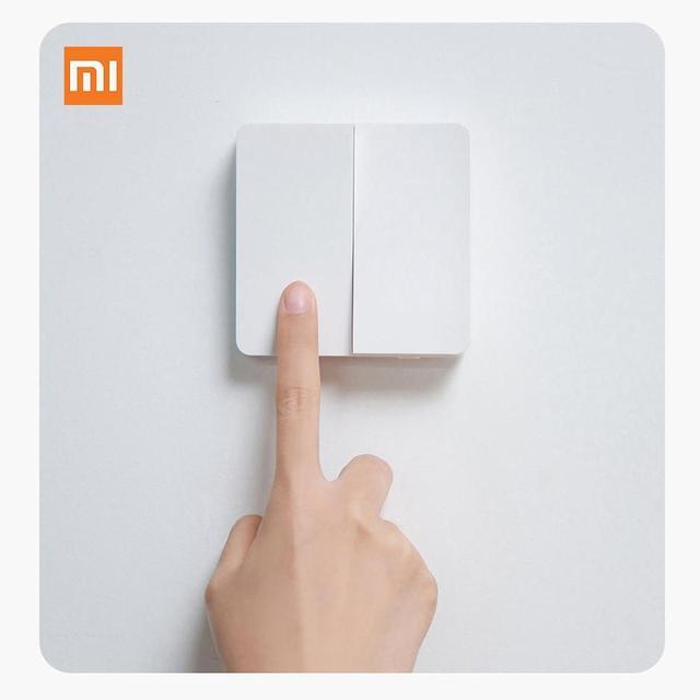 Xiaomi mijia壁スイッチシングル/ダブル火災ワイヤーオープンデュアルコントロールスイッチ2モード家庭用yeelight mijiaスマートledライトスイッチ