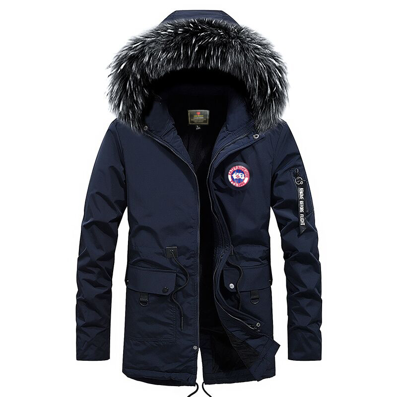 New Design Nice Plus Size S-5XL Long Winter Men Jacket With Fur Hood Men Clothing Casual Jackets Thickening Parkas Male Coat