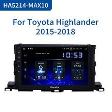 "Dasaita 10.2 ""araba multimedya 1 Din Android 10 Toyota Highlander için GPS 2015 2016 2017 araba Stereo Bluetooth MAX10 64GB ROM"