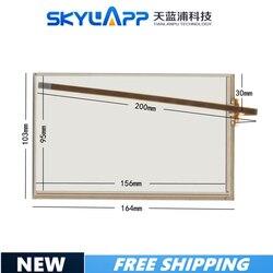 Novo 7 Polegada 4 linhas 164mm * 103mm painel da tela de toque 164*103 touchscreen sensor vidro 170504 para carro dvd o comprimento do cabo 200mm