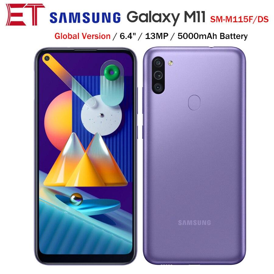 2020new global samsung galaxy m11 m115f/ds 4g lte telefone móvel 6.4