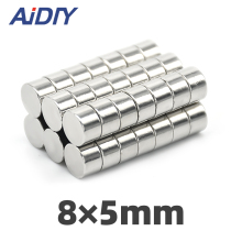 AI DIY 5/20/100Pcs 8mm X 5mm N35 Round Strong Neodymium Magnet Sheets Mini Mmall Rare Earth Magnets Disc Wholesale 8*5mm