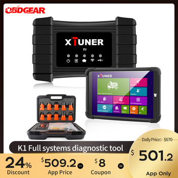 2020 Newest XTUNER T1 HD Heavy Duty Truck Auto Diagnostic Tool With Truck Airbag ABS DPF EGR Reset  OBD2 Auto Diagnostic Scanner launch x431 hd adapter box heavy duty truck diagnostic tool software x 431 obd2 diagnostic scanner work with x431 v pad ii