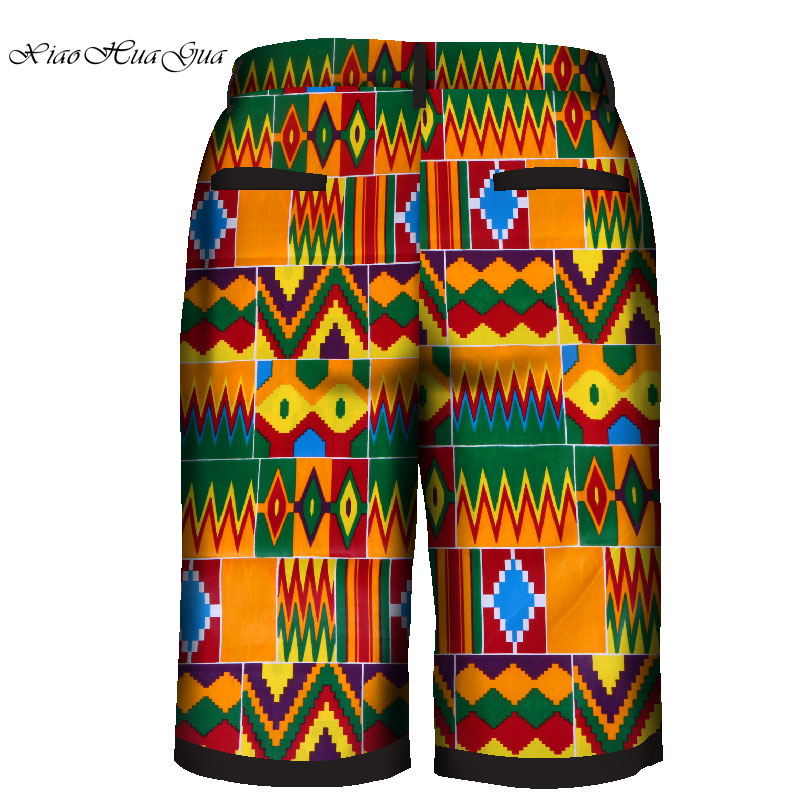 Show details for 2019 African men's pants Ankara print fashion pattern casual capri pants dashiki short trousers male outfits customized WYN959