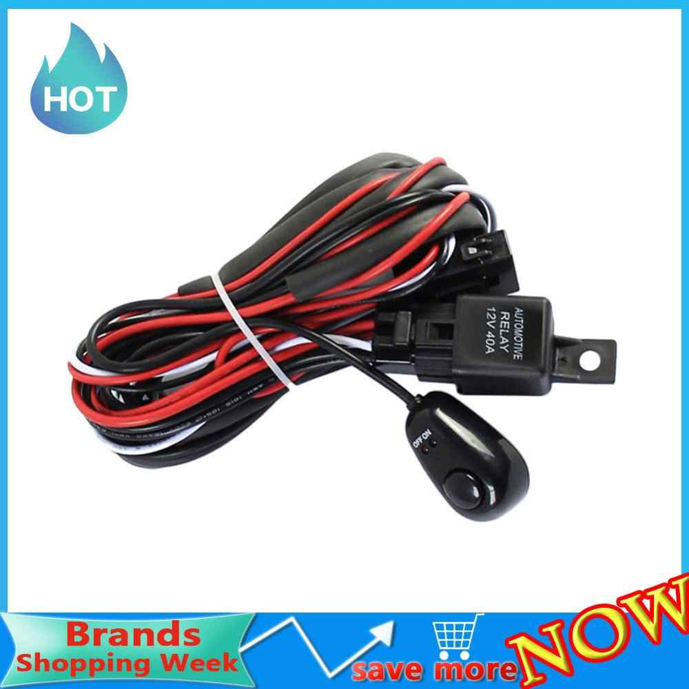 12V 40A Car Universal Accessories Fog Light Wiring Harness Kit Loom For LED  Work Driving Light Bar With Fuse And Relay Switch|fog light wiring|car wire  loomcar wiring harness - AliExpressAliExpress