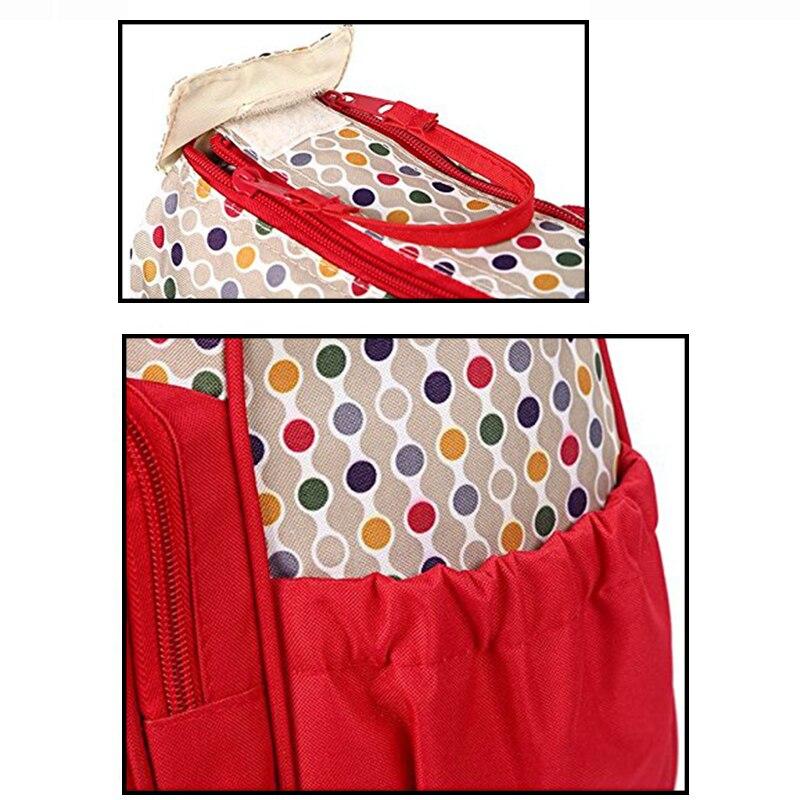 Image 5 - Набор 5 комплектов Мама сумка для детской бутылочки материнская карманная сумка/Сумочка для детской тележка коляска бутылочка для кормления матрас для еды сотыСумка для хранения подгузников   -