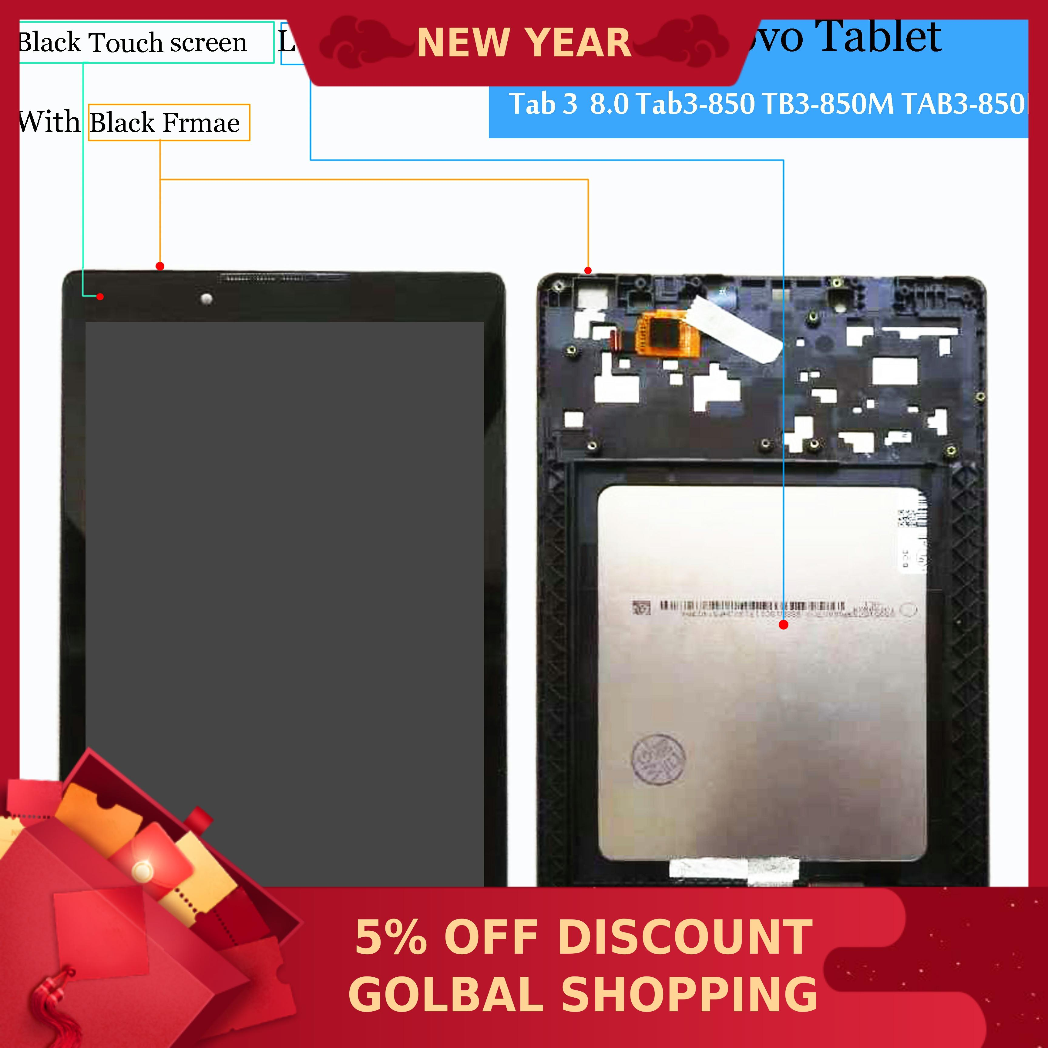 "New Lenovo Tab 3 8 TB3-850 TB3-850F TB3-850M 8.0/"" Touch Screen Digitizer Black"