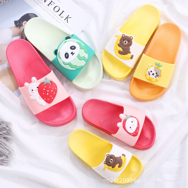 2020 New Children's Cartoon Slippers Summer Unicorn Indoor And Outdoor Parent-child EVA Shoes Children's Smile Slippers SO011