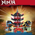 Ninja Temple 810 шт DIY строительные блоки наборы обучающие игрушки для детей Совместимые Ninjagoes Temple DIY Кирпичи подарок для детей