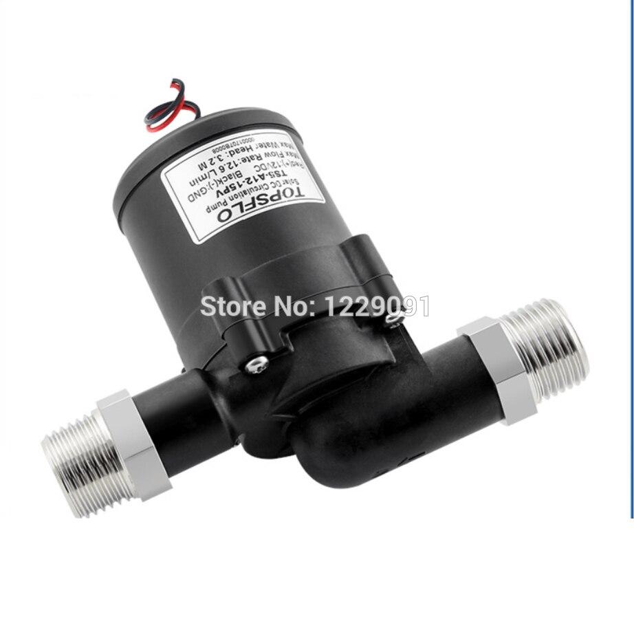 DC mini pompe à eau solaire 12v chauffe-eau booster pompe moteur sans brosse