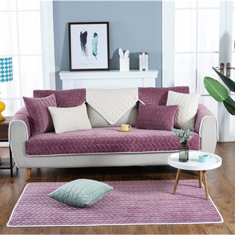 Thicken Plush Fabric Sofa Cover Lace Slip Resistant Slipcover Seat European Style Couch Cover Sofa Towel