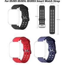 Substituição pulseira de pulso banda de relógio para id205, id205l, id205s à prova dwaterproof água relógio inteligente relógio de pulso esporte pulseiras acessórios