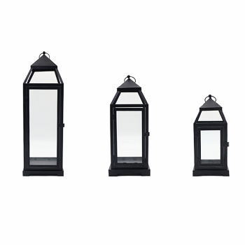 Black Glass Candle Holder Small Retro Lantern Portable Candlestick for Wedding Decoration Centerpieces Stands Bestselling GG50zt