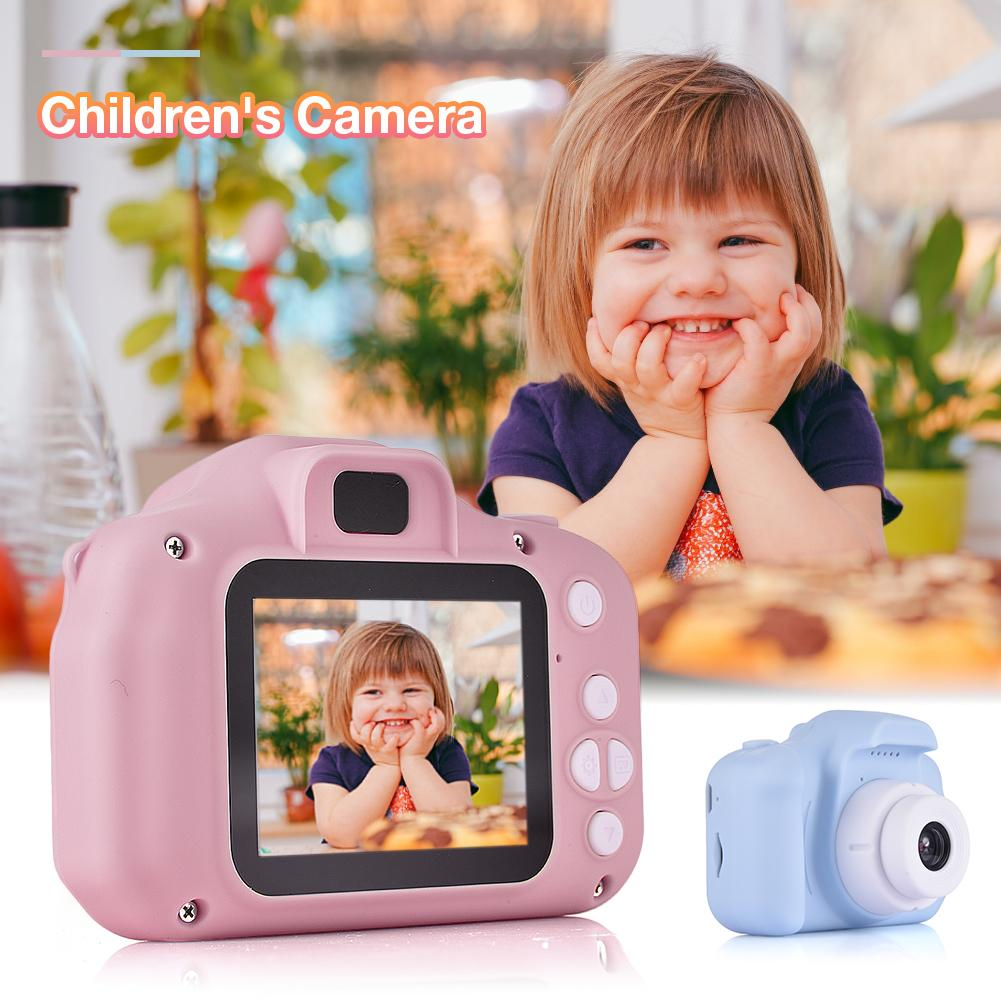 2 Inch HD Screen Chargable Digital Mini SLR Camera Toys Kids Cartoon Cute Camera Toys Outdoor Photography Props For Child Gifts