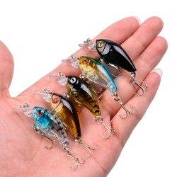 4.5cm 4.2g Crankbait Fishing Lure Artificial Crank Hard Bait Topwater Black Minnow Fishing wobbler Japan Fish Lures Tackle