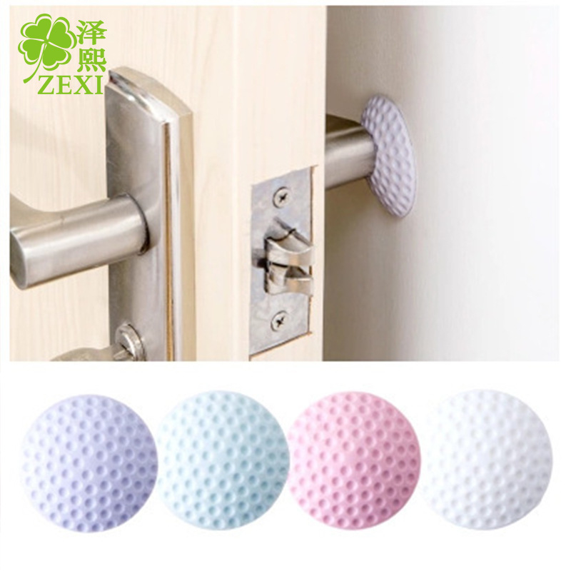 T6045 Thick Mute Door After Wall Crash Cushion Anti-Fender Door Handle Door Lock Protection Cushion Anti-vibration Pad