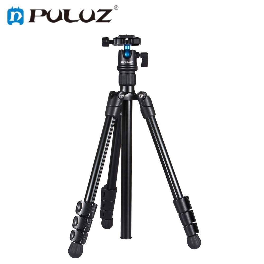 PULUZ professionnel photographie prise de vue support de trépied 4 sections pieds pliants avec 360 'support à rotule pour appareils photo numériques DSLR