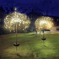 Globo de césped al aire libre con energía Solar, diente de león, lámpara de fuegos artificiales, Flash, cadena de 90 /120/150 LED para césped y jardín, paisaje, luz de vacaciones