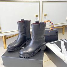 Shoes Female Luxury Brand Boots Casual Women Fur Mid-Calf Leisure Flat High-Quality