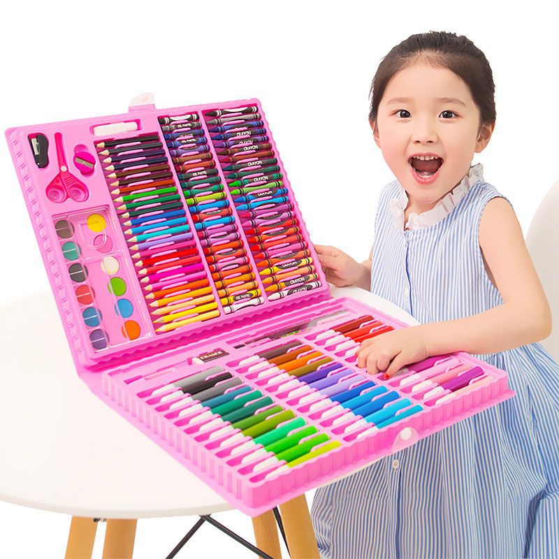 150 Pcs Colored Pencil Crayon Watercolors Drawing Set Colored Ncils Drawing Painting Art Marker Pens School Supplies Kid Gifts(China)