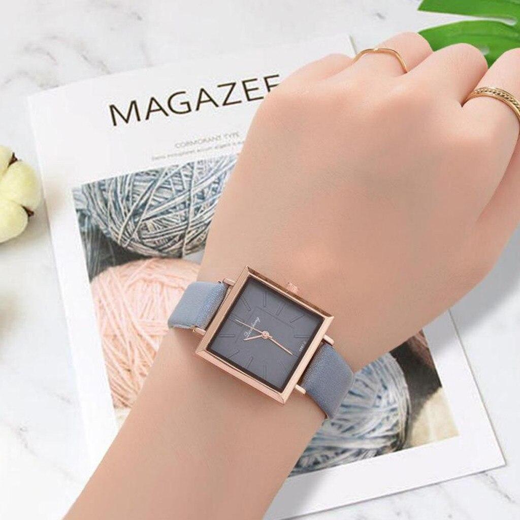 Fashion Classic Design Watch Womens Ladies Leather Strap Quartz Wristwatch Pink Student Gift For Women Dress Erkek Kol Saati %N