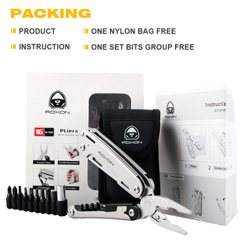 Roxon s801s updated multitools folding plier edc scissors camping fishing multi tools plier screwdriver bits knife survival