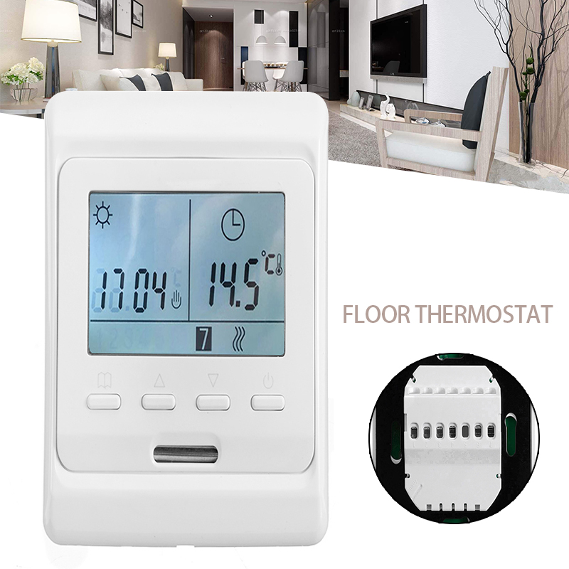 1Pc Durable LCD Display Digital Underfloor Heating Thermostat Digital Floor Thermostat For Water Underfloor Heating