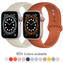 Pulseira de silicone macio para apple assistir série 6 5 4 3 2 1 38mm 42mm pulseira de borracha para iwatch se 6/5 40mm 44mm