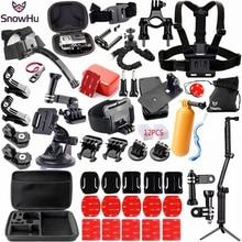 SnowHu Accessories kit for Gopro Hero 9 8 7 6 5 Black Hero Session Set Mount for SOOCOO  Akaso xiaomi YI 4K for eken h9r GS98