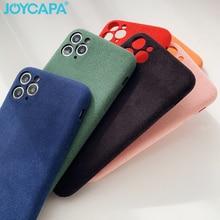 Роскошный замшевый цветной чехол INS для телефона iPhone 11 Pro Xs Max XR X 6 6s 7 8 Plus SE 2, теплый фланелевый мягкий чехол из ТПУ в клетку
