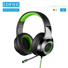 EDIFIER G4 gamingowy zestaw słuchawkowy wbudowany chowany mikrofon i 7.1 wirtualna karta dźwiękowa Surround izolacja hałasu nauszniki słuchawki