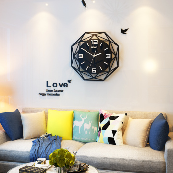 Black Acrylic Sheet | MEISD Creative Geometric Silent Large Acrylic 3D Wall Clocks Digital Modern Style Black Quartz Hanging Watch With Wall Stickers