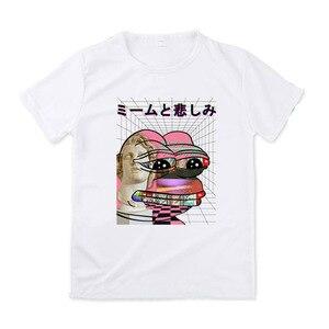 Женская футболка с рисунком лягушки Pepe Sad, модная футболка с короткими рукавами, хипстерская одежда на заказ, лето 2019