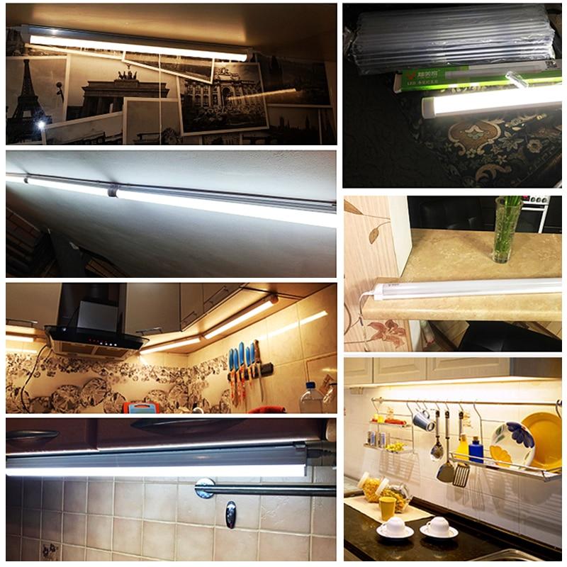 Led Lights For Kitchen 220V 110V Under Cabinet Lights Cabinet Led Closet Light 10/20W 30/50CM Home Wardrobe Bedroom Wall Lamp 2