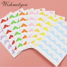 WISHMETYOU 24PCS Stickers Scrapbooking Color Style Corner Album Photos Fixed Frame Decoration Handcrafted DIY Hot Sale