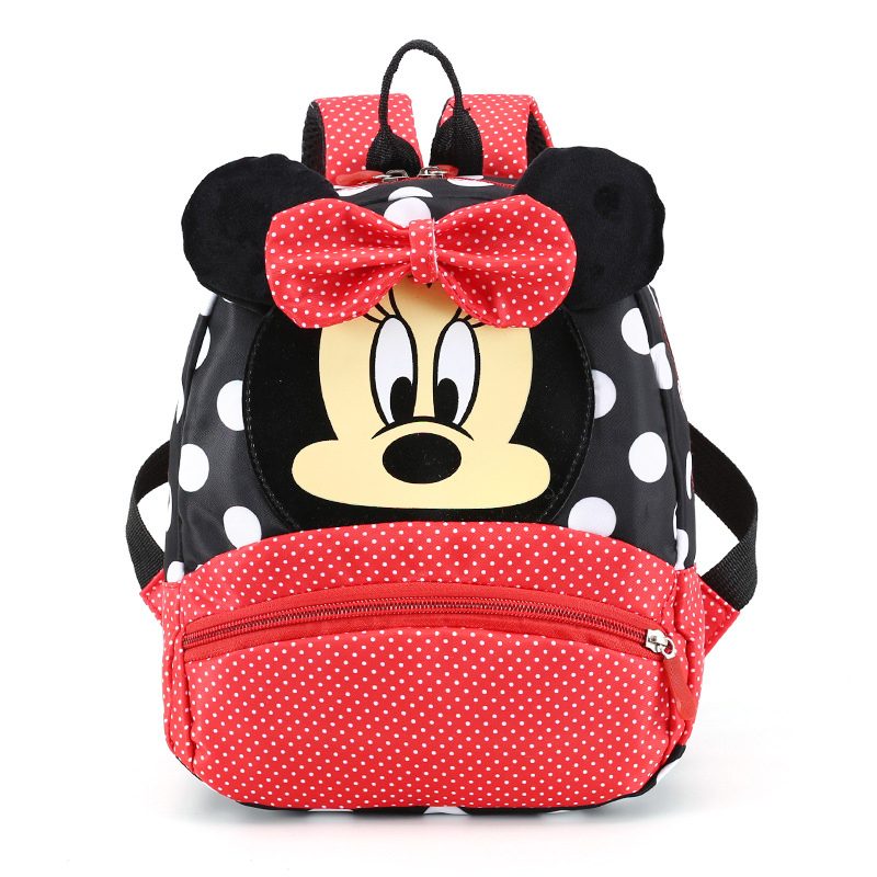 Baby Girls Backpack Little Plush Bag Mickey Minnie Cartoon Bags For 2-7 Yrs Children New Cute Kindergarten Travel Portable Bag