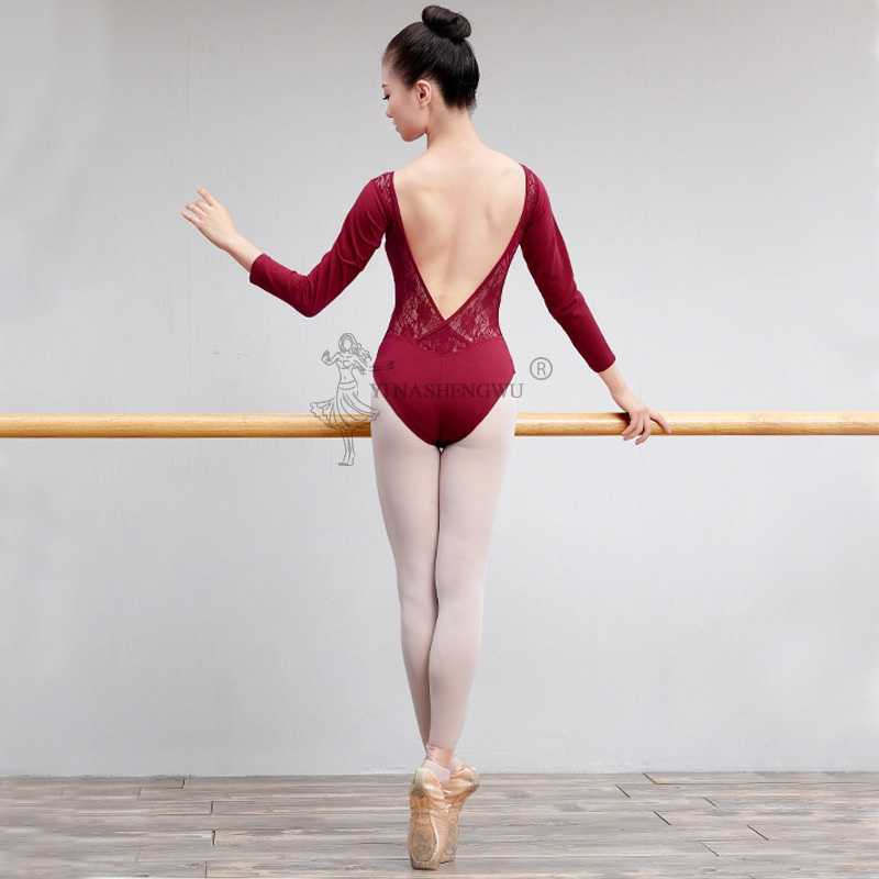 Las chicas gimnasia leotardos tutú de Ballet profesional de tanque leotardo Ballet baile vestido mono encaje adulto práctica trajes