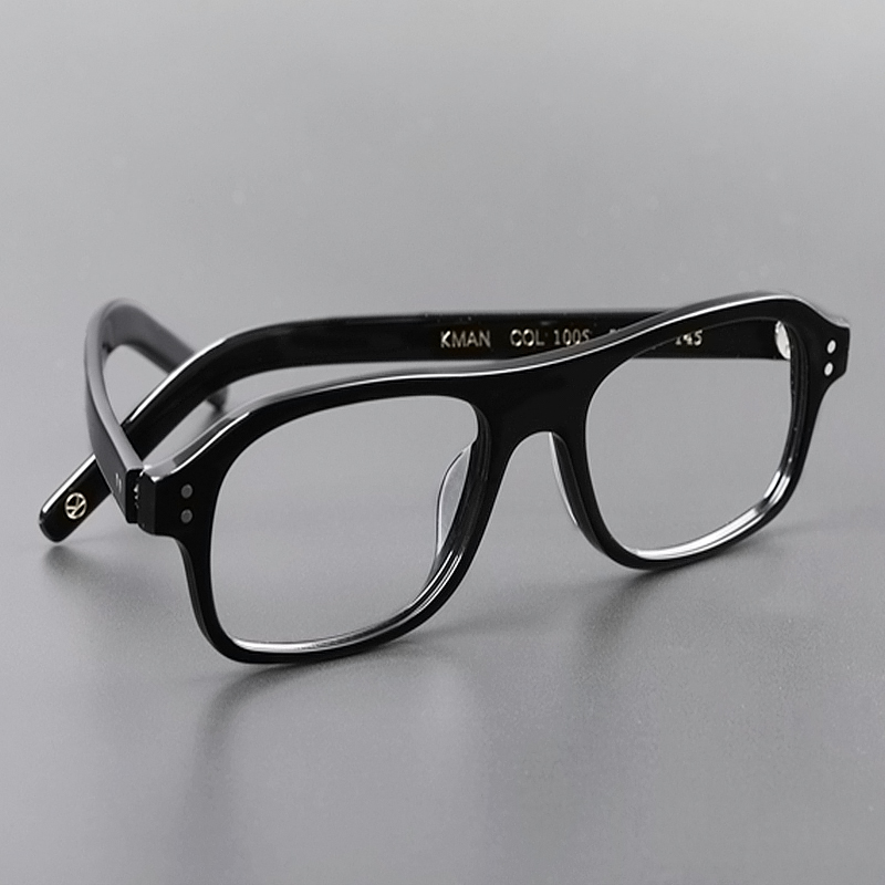 Kingsman Eyelasses Frames The Golden Circle Secret Service Cosplay Harry Hart Glasses Top Acetate Frame British Style Eyewear