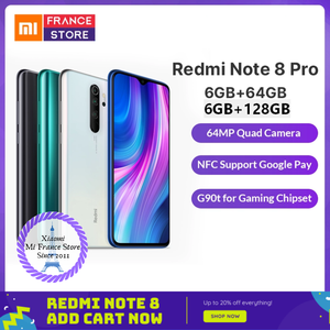 """Image 1 - Redmi Note 8 Pro Xiaomi Global Rom 6 Gb 64 Gb/128 Gb Smartphone G90T Octa Core 6.53"""" 64MP 4500 Mah Nfc Mobiele Telefoon Android [Free shipping provide 2 year Warranty [one year Allianz one year Xiaomi]"""
