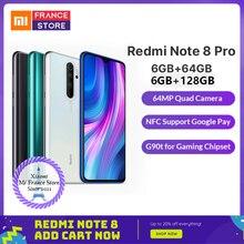 "Redmi note 8 pro xiaomi 글로벌 rom 6 gb 64 gb/128 gb 스마트 폰 g90t octa core 6.53 ""64mp 4500 mah nfc 휴대 전화 android"