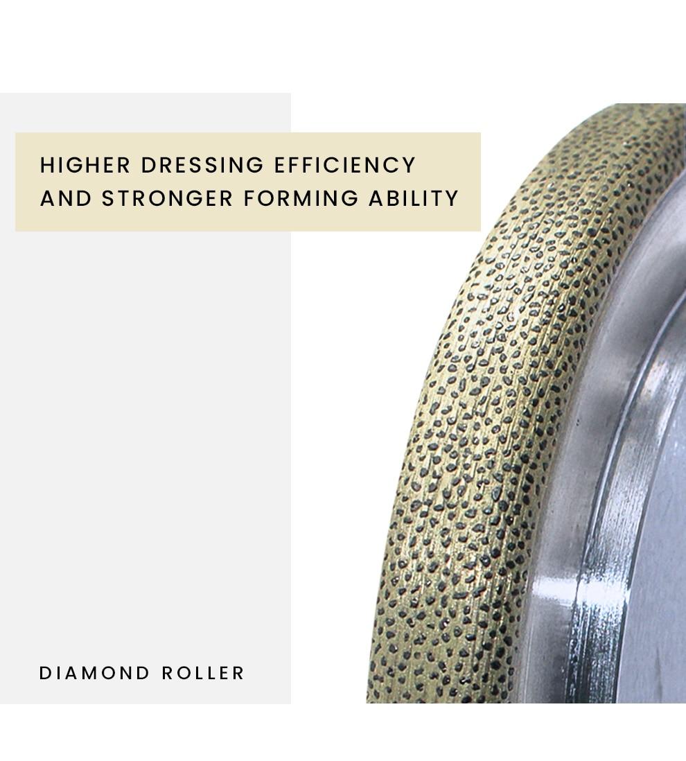 Roda de moedura diamante rolo correção moedor