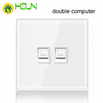 86 type White tempered glass reset toggle switch 1 2 3 4 gang 1 2 way retro hotel creative switch USB France Germany UK socket 13