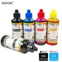 DMYON Printer Ink Refill Ink Bottle Replacement for Hp 650 XL for Deskjet 1015 1515 2515 2545 2645 3515 3545 4515 4645 Printer free shipping 2016 [hisaint] 2pk 650xl bk color ink cartridges for hp deskjet 1015 1515 4645 ink jet printer hot sale
